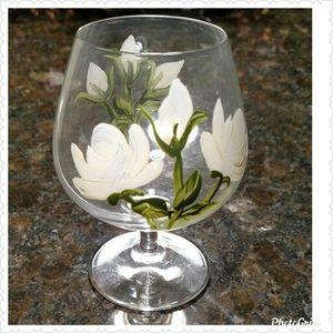 Cristal D'arques Handpainted Cognac/Cordia Glasses